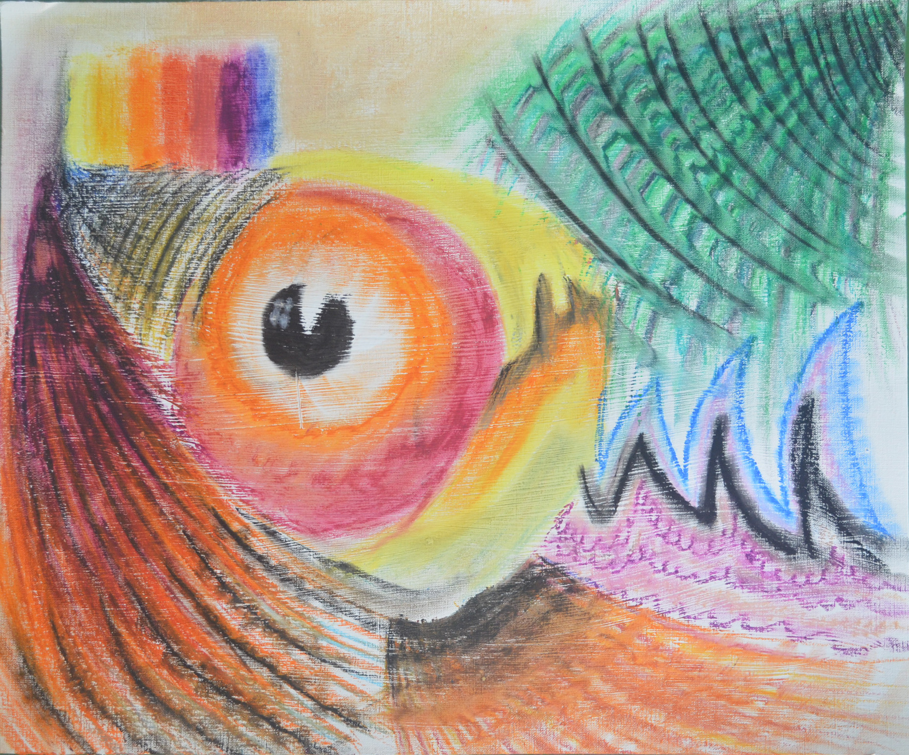 Experimenting With Oil Pastels