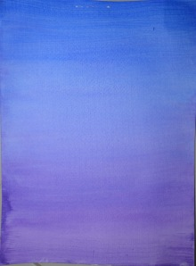 2 - Wet Blue Ultramarine over a  dry violet wash