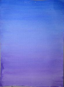 2 - Wet Blue Ultramarine over a  dry violet wash
