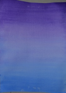 3 - Wet Violet over dry Ultramarine
