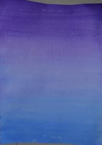 3 - Wet Violet over dry Ultramarine