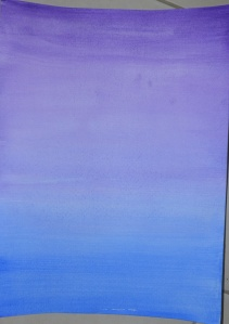 4 - Wet Violet over dry Ultramarine