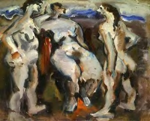 Bathers or Beach Scene Untitled 1933-4 by Mark Rothko