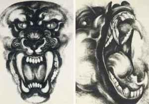 Thawan Duchanee Tiger and Monkey