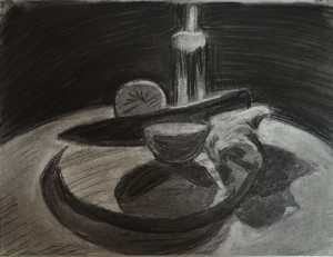 4th Study Charcoal lift off