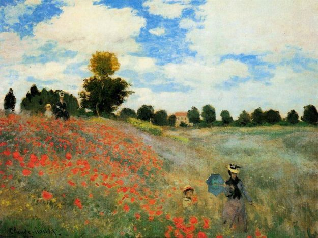 Claude Monet, Poppies at Argenteuil, 1873