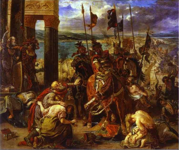 Eugene Delacroix , The Entry of the Crusaders into Constantinople. 1840. Oil on canvas