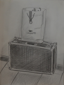 2 Second Sketch - Drone Case and Lacoste Bag