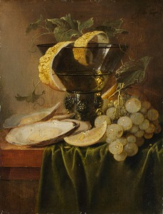Jan Davisz de Heem Still Life with a glass and Oysters