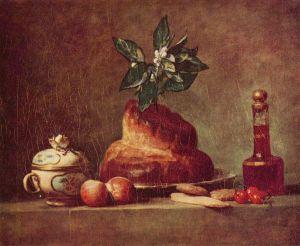 Jean Baptiste Siméon Chardin Still Life with Bread