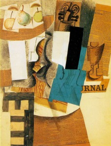 Picasso - Still Life with Violin and Fruit