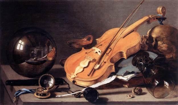 Vanitas with Violin and Glass Ball Pieter Claesz