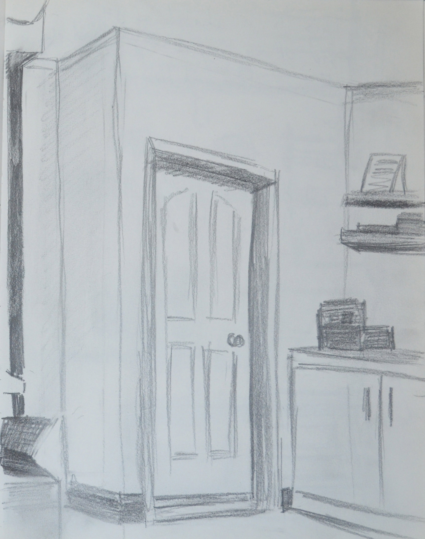9 4th pencil sketch in my apartment