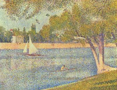 Georges Seurat - The Seine and la Grande Jatte - Springtime 1888