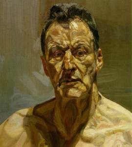 Lucian Freud Reflection -Self Portrait 1985