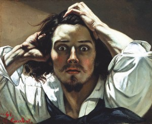 Self-Portrait by Gustave Courbet a Desperate Man 1843–45