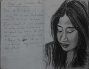 2nd Sketch - Looking at Faces and Best Angle