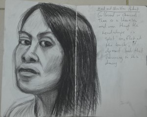 5th Sketch - Looking at Faces and Best Angle