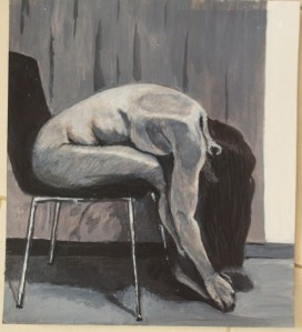 9 - 1st Painting Painted from Charcoal Study