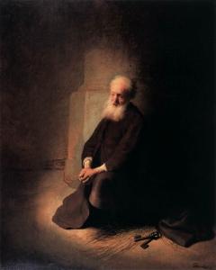 Rembrandt van Rijn Apostle Peter in Prison 1631