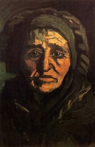 Van Gogh Peasant Woman with Dark Bonnet