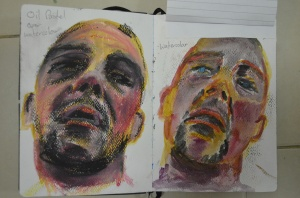 1 Watercolour and Oil Pastel