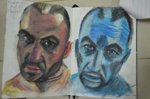 2 Watercolour and Oil Pastel