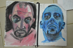 3 Watercolour and Oil Pastel