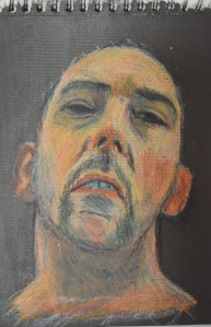 4 Watersoluble Oil Pastels on Acrylic