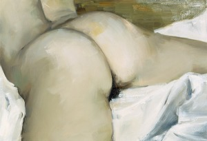 nude on white linen Gillian Carnegie, 2002