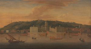 1 Jan Griffier the Elder - A view of Greenwich from the River with many Boats