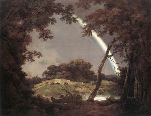 Joseph Wright of Derby - Landscape with Rainbow