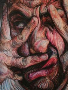 Nikos Gyftakis - Self-portrait 1 - oil pastel on canvas