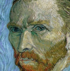 van Gogh - Self Portrait 1989 - Detail