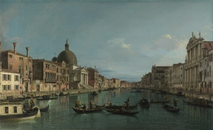 Canaletto - The Grand Canal with S Simeone Piccolo