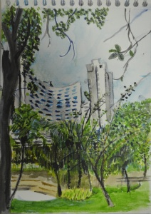 Watercolour Sketch - Sukhumvit Park