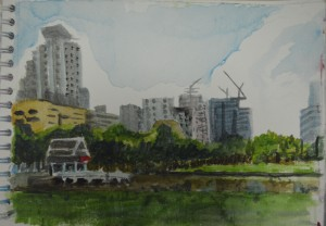 Watercolour Sketch Sukumvit Park